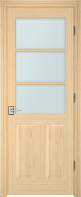 Image PBI 3030 Satin White Glass Interior Door, finish Oak