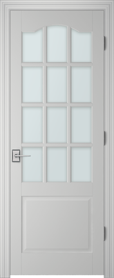 Image PBI 312AS Clear Glass Interior Door, finish Primed