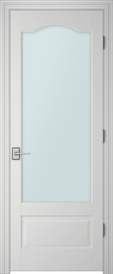 PBI 1010S Clear Glass Interior Door Primed