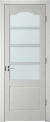 Image PBI 304AS Clear Glass Interior Door, finish Primed