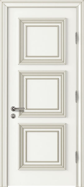 Image Palladio Prima Interior Door, finish White with Silver Patina